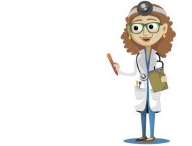Ärztin Oberarm Blutdruckmessgerät